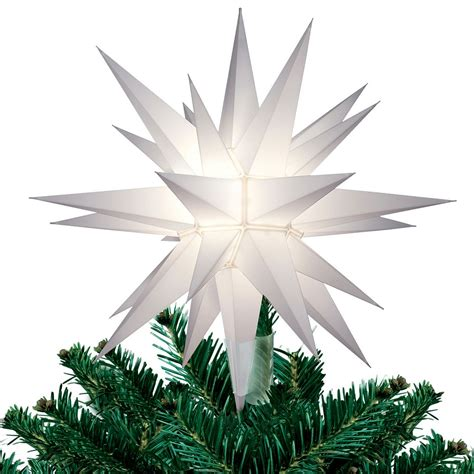 12 quot lighted white moravian star christmas tree topper star