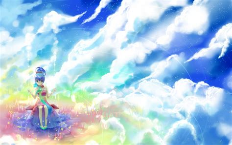 Anime In The Sky Anime Rock Clouds Sky Wallpapers Anime Rock