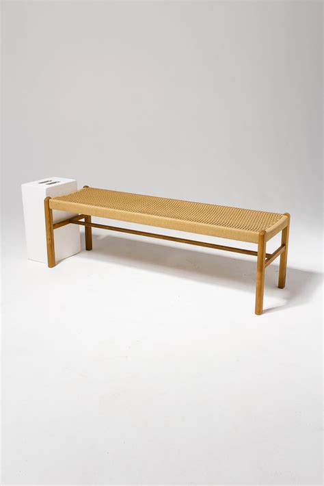 ab chester woven rattan bench prop rental acme brooklyn