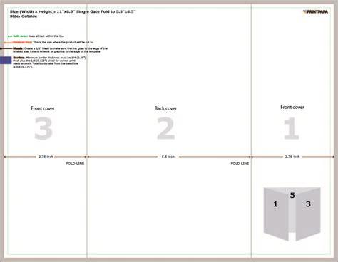 8 Panel Brochure Template 85 X 11 Gate Fold Tri 98 Gatefold Template Microsoft Word 202 11x85 Open