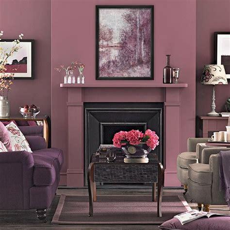 Plum Tones Living Room  Living Room Decorating