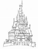 Castle Outline Drawing Getdrawings Printable Coloring Pages sketch template
