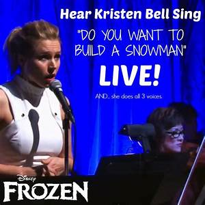 I. LOVE. KRISTEN. BELL. Hear Kristen Bell Sing Frozen's ...