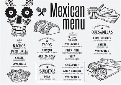 Vector Menu Mexican Tortilla Taco Restaurant Clip