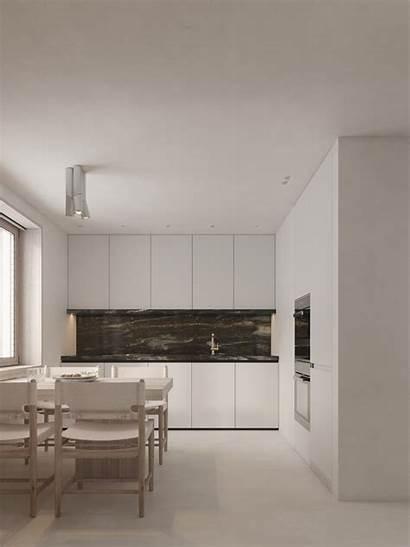 Minimalist Kitchen Interior Modern Neutral Designing Dining