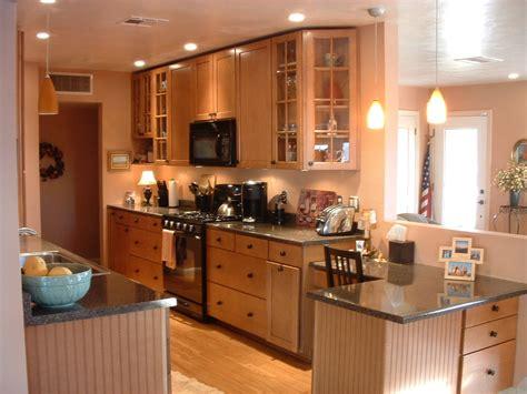 ranch home galley kitchen open floorplan remodel home
