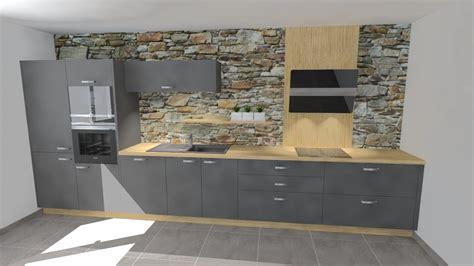cuisine et gris davaus cuisine gris laque et bois avec des idées