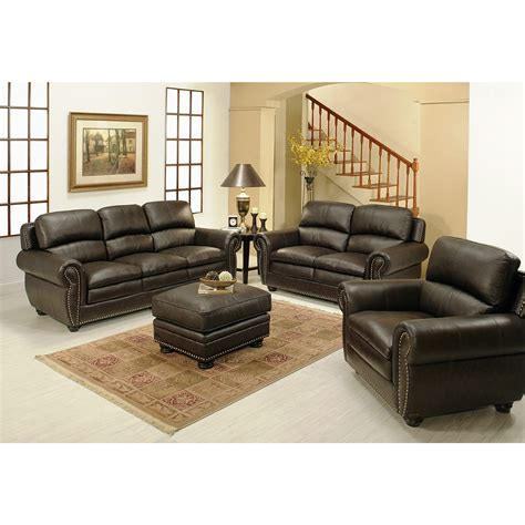 costco living room furniture leather sofa set costco plaza top grain leather sofa and
