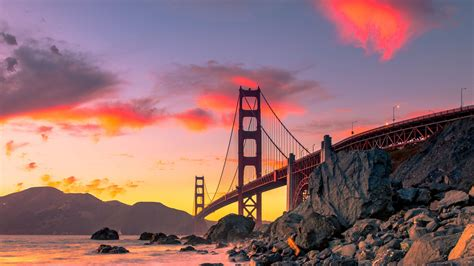 wallpaper golden gate bridge san francisco usa autumn