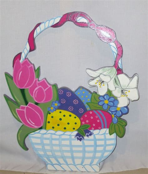 easter decorations to easter basket outdoor wood yard lawn