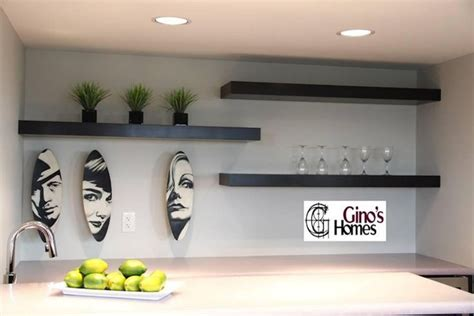 floating shelves  bar basements pinterest