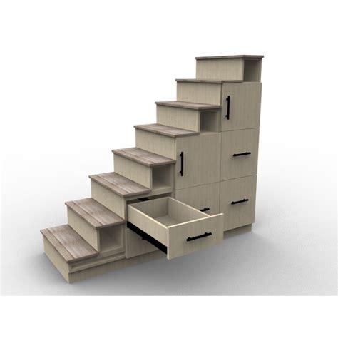 caisson d angle cuisine meuble escalier sur mesure modèle chêne boisé