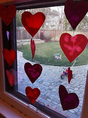 valentine craft  toddlers oil  paper stained glass