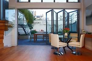 Baie Coulissante Bois : baie vitree ouverture accordeon maison design ~ Premium-room.com Idées de Décoration