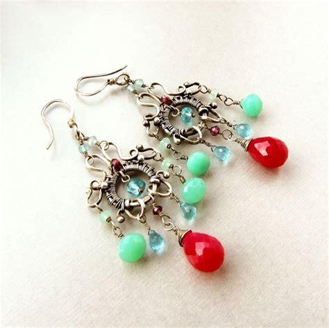 handmade chandelier earrings buy made sterling silver handmade chandelier earrings