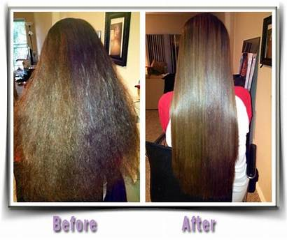Keratin Straightening Treatment Before Natural Amino Introduction