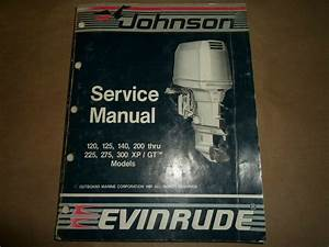1988 Johnson Evinrude 120 125 140 200 Thru 225 275 300 Xp