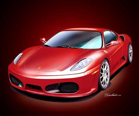 Want to discover art related to ferrari? Ferrari sports car - Fine art print poster by artist Danny ...