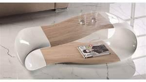 Table Salon Blanche : table basse design scandinave blanche et bois jarka gdegdesign ~ Teatrodelosmanantiales.com Idées de Décoration