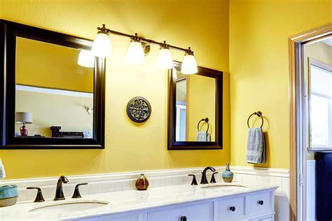 Wall Color Ideas For Bathroom by 24 Yellow Bathroom Ideas Inspirationseek