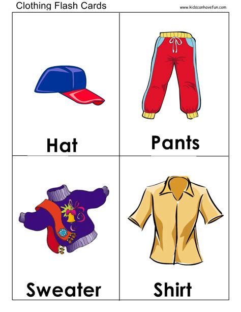 Clothes Flashcards  Flashcards  Pinterest  Clothes, English And School