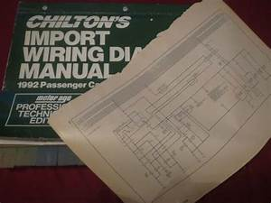 1992 Mazda 626 Mx6 Wiring Diagrams Schematics Manual