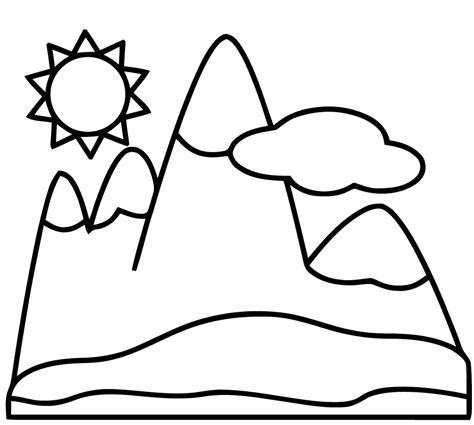coloriage chalet montagne imprimer