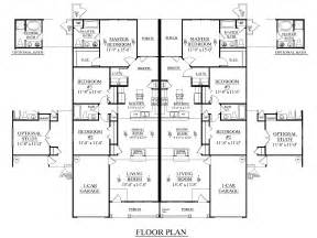 The Plans For Duplex by Southern Heritage Home Designs Duplex Plan 1392 B