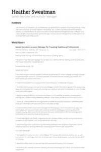 it staffing account manager resume recruiter resume sles visualcv resume sles database