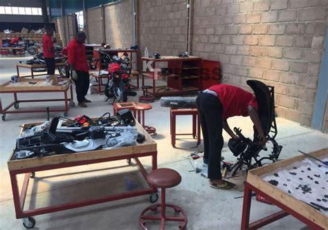 rwanda  exhibit  locally  motorcycles kt press
