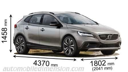dimensions des voitures volvo longueur  largeur  hauteur