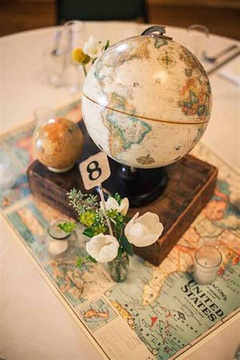20 Awesome Travel Themed Wedding Ideas Mariage Table