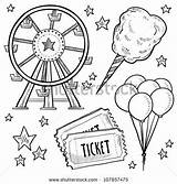 Tickets Coloring Pages sketch template