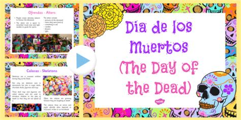 Mexican day of the Dead Information PowerPoint - ESL Day ...