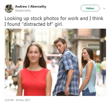 Stock Photo Girl Meme - distracted boyfriend meme more to the couple s story express digest