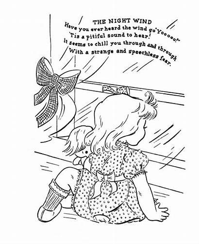 Nursery Rhymes Rhyme Coloring Pages Goose Mother