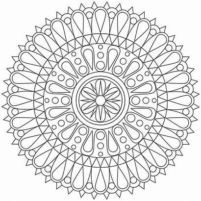 Coloring Pages Geometric Printable Shape Mandala Patterns