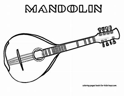 Alat Gambar Musik Mewarnai Coloring Sketsa Gitar