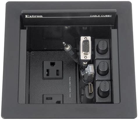 black cubby extron cable cubby 500 cable cubby 500 black no ac