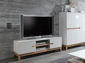 Buffet Salon Blanc : meuble de salon design en blanc 20 id es l gantes ~ Teatrodelosmanantiales.com Idées de Décoration