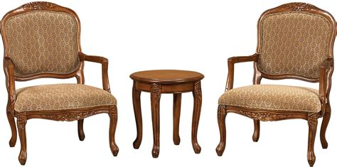 cing chair with side table 3 piece tasha accent chairs side table set the brick