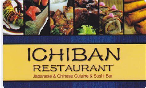 ichiban cuisine ichiban gift card lamoureph