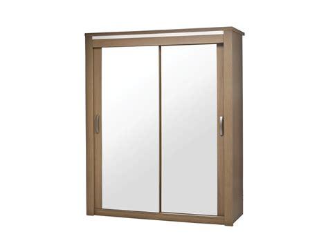 armoire 2 portes coulissantes miroir flora laque perle