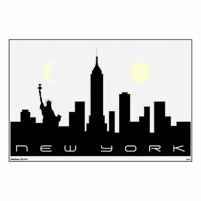 Skyline York Clip Silhouette Clipart Nyc Cliparts