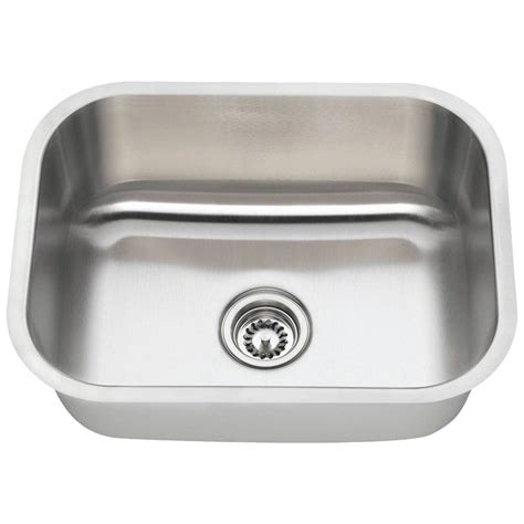 undermount single bowl kitchen sink polaris sinks undermount stainless steel 23 in single 8735