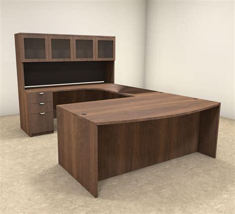 modern contemporary executive desk 5pc u shaped modern contemporary executive office desk set