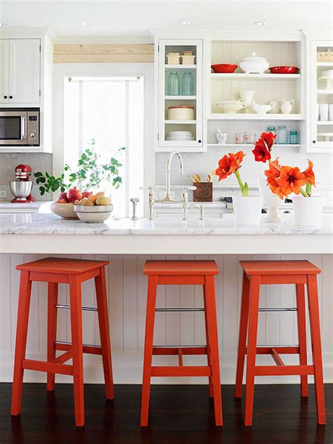 bright colored kitchens 18 brilliant kitchen bar stools that add a serious pop of 1798