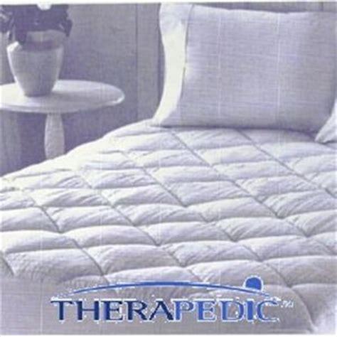 therapedic mattress reviews therapedic 300 thread count cotton mattress pad reviews