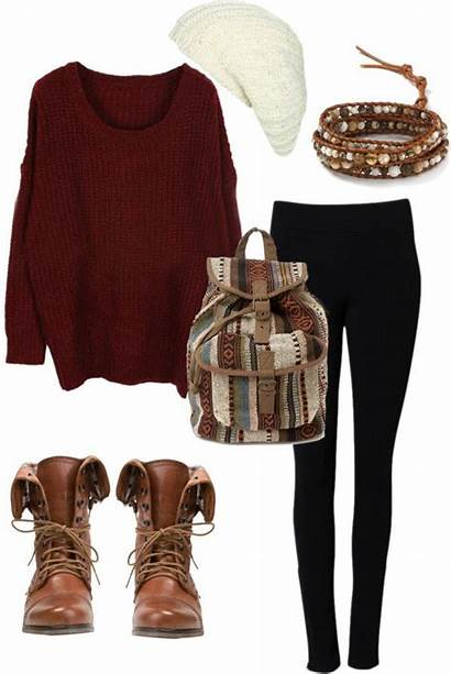 Polyvore Jumpers Warm Outfits Fall Try Combos