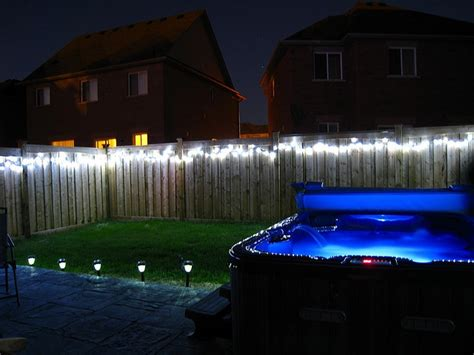 how to hang string lights on fence 17 best images about backyard lighting on pinterest